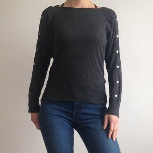 Michael Kors - Charcoal Sweater With MK Studs